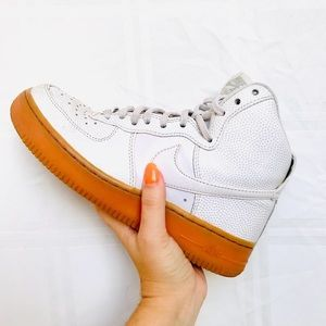 Vintage high top Nike Air Force 1s women's shoes